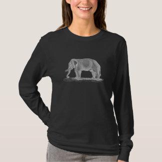 Weißer Elefant Vintage 1800s Illustration T-Shirt