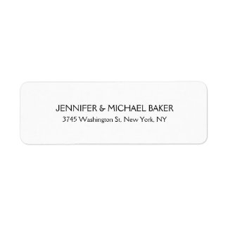 Weißer eleganter unbedeutender einfacher moderner kleiner adressaufkleber