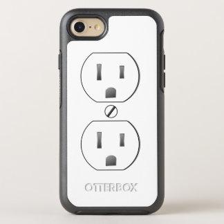 Weißer elektrischer Ausgang OtterBox Symmetry iPhone 7 Hülle