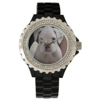 Weißer Engel Armbanduhr
