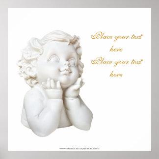 Weißer Engel Poster