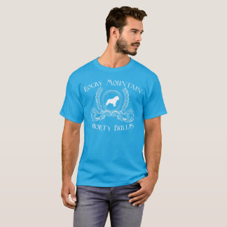 Weißer Entwurf des felsiger BergShorty Stier-T - T-Shirt