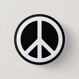 Weißer Friedenssymbol-Knopf Runder Button 2,5 Cm