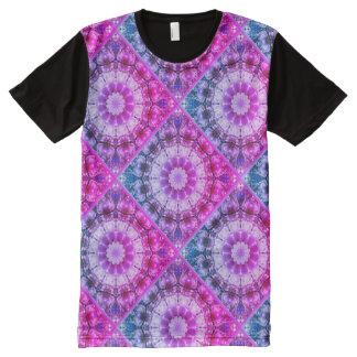 Weißer Frühling blüht 2.45.F.2, Mandalaart T-Shirt Mit Bedruckbarer Vorderseite