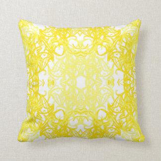 weißer gelber Kissen