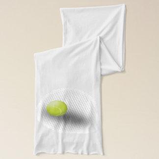 Weißer grüner Tennisschal Tennisball Schal