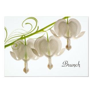 Weißer Herz-Blumen-Posten-HochzeitBrunch 12,7 X 17,8 Cm Einladungskarte