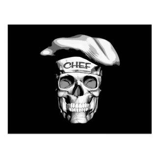 Weißer Hut-Kochs-Schädel Postkarte
