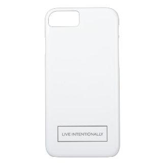 Weißer iPhone 7 Kasten, der zitieren Live ist iPhone 7 Hülle