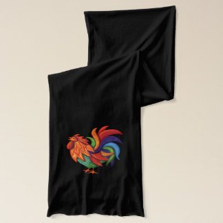 Weißer Jersey Schal De Colores Rooster Gallo