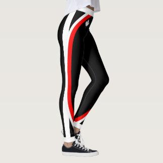 Weißer kanadischer Ahorn/Ihr Name auf (Ihre Farbe) Leggings