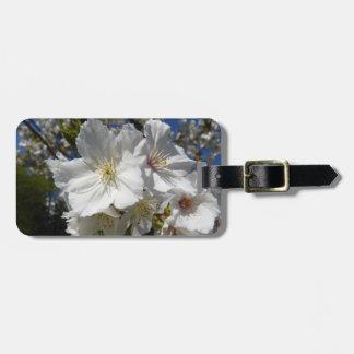 weißer Kirschblüte-Gepäckanhänger Kofferanhänger
