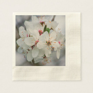 Weißer Kirschblüten-Entwurf Serviette