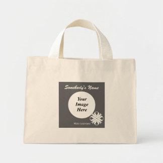 Weißer Klee-Band-Schablone Mini Stoffbeutel