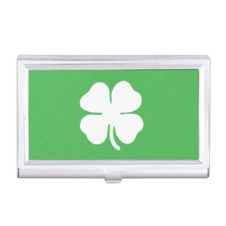 Weißer Klee-Blatt-Visitenkarte-Halter Visitenkarten-Halter