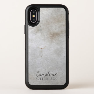 Weißer Marmor. Addieren Sie Namen OtterBox Symmetry iPhone X Hülle