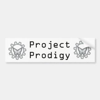 Weißer Projekt-Logo-Autoaufkleber 2 Autoaufkleber