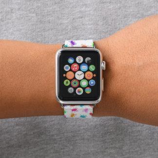Weißer Regenbogen fliegt Apple Watch Armband