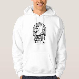 Weißer Ritter-Logo Hoodie