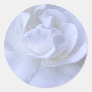 Weißer Rosen-Hochzeits-Aufkleber Runder Aufkleber