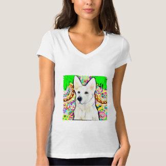 Weißer Schäferhund Bling T-Shirt