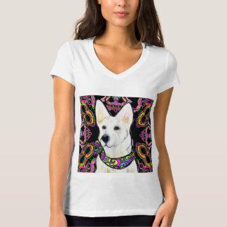 Weißer Schäferhund-Karneval T-Shirt