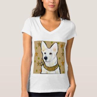 Weißer Schäferhund-Soldat T-Shirt