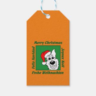 Weißer Schäferhund Weihnacht Geschenkanhänger