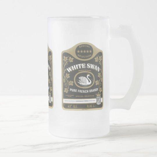 Weißer Schwan-Weinbrand-Vintage Mattglas Bierglas