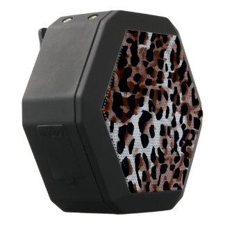 Weißer schwarzer BrownCheetah abstrakt Schwarze Bluetooth Lautsprecher