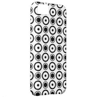 Weißer schwarzer stilvoller Tupfenweißhintergrund iPhone 5C Hülle