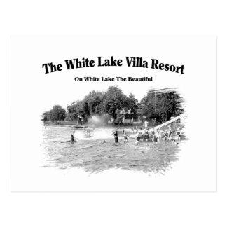 Weißer See-Landhaus-Erholungsort Postkarte