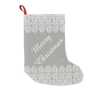 Weißer Spitze-WeihnachtsStrumpf Kleiner Weihnachtsstrumpf