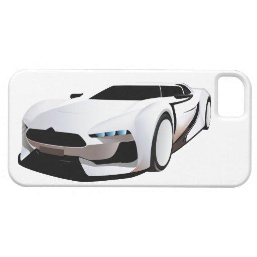 Weißer Sportwagen iPhone 5 Etuis