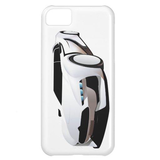 Weißer Sportwagen Hüllen Für iPhone 5C
