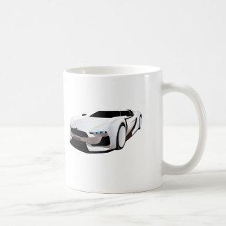 Weißer Sportwagen Tasse