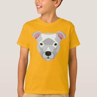Weißer Staffordshire-Bullterrier T-Shirt