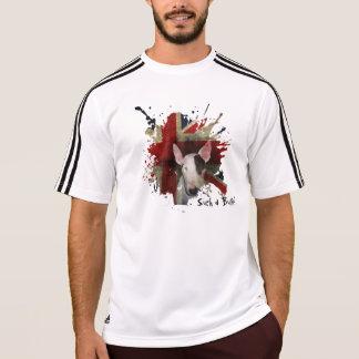 Weißer Stier-Terrier-Gewerkschafts-Jackadidas-T - T-Shirt