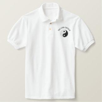 Weißer Tai-Chi - gestickt Besticktes Polo Shirt