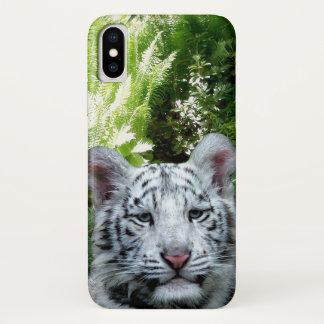 Weißer Tiger iPhone X Hülle