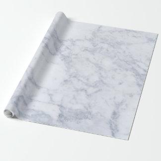 Weißer u. grauer Marmorsteindruck Geschenkpapierrolle