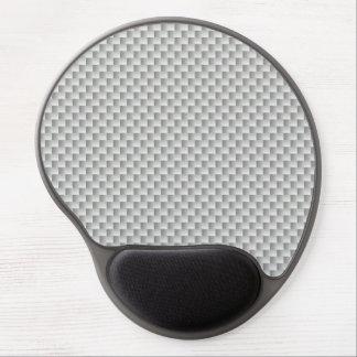 Weißer und grauer Kohlenstoff-Faser-Graphit Gel Mousepad