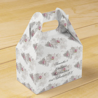 Weißer und rosa Blumenhochzeitsblumenstrauß Geschenkschachtel