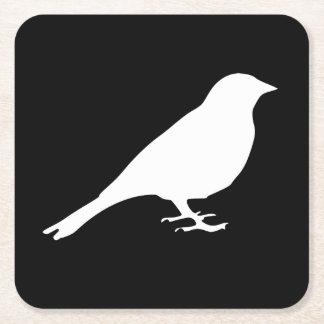Weißer Vogel-Untersetzer Rechteckiger Pappuntersetzer