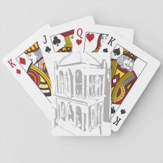 Weißer Vogelkäfig-Spielkarten Spielkarte