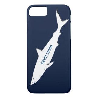 weißer wilder Haifisch personalisiert iPhone 8/7 Hülle