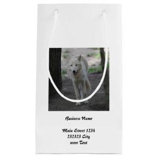 weißer Wolf Kleine Geschenktüte