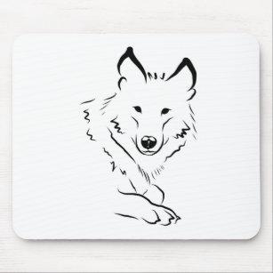 Schwarz Weißer Wolf Mousepads Zazzle Ch