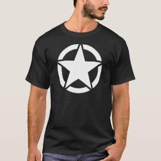 Weißer WWII Jeep-Stern - segmentiert T-Shirt