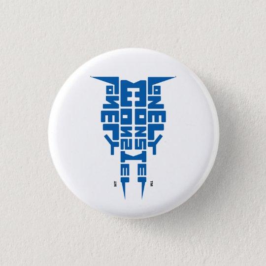 Weißes Abzeichen mit blauem LM-Totem-Logo Runder Button 2,5 Cm